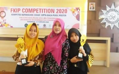 Dua Siswa SMAN 1 Pulung Raih Prestasi pada Kompetisi yang Digelar FKIP Unmuh Ponorogo