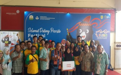 SMA Negeri 1 Pulung mewakili Provinsi Jawa Timur Lomba Kriya FLS2N di Aceh 2018